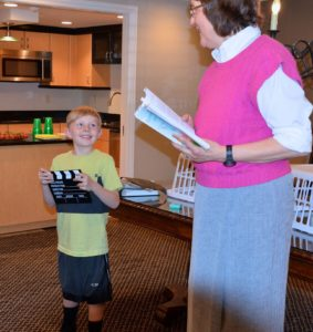 Author Marci and grandson Gavin - photo by Sarah Farmer