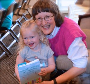 Author Marci and granddaughter Regan - photo by Sarah Farmer